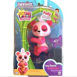 FINGERLING POLLY GLITTER PANDA PINK TOY NEW